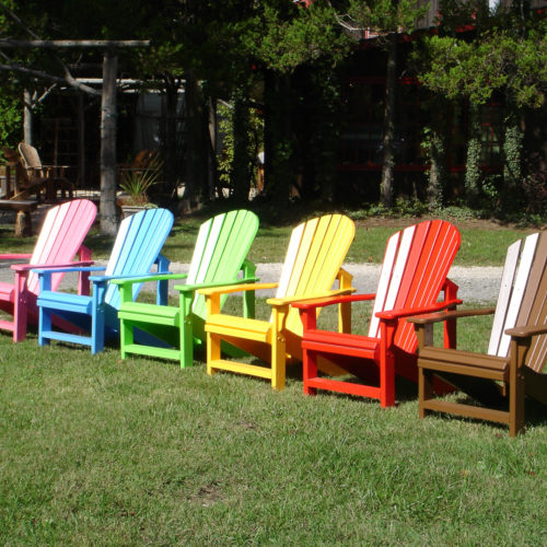 Chairs Shown in Painted Cedar