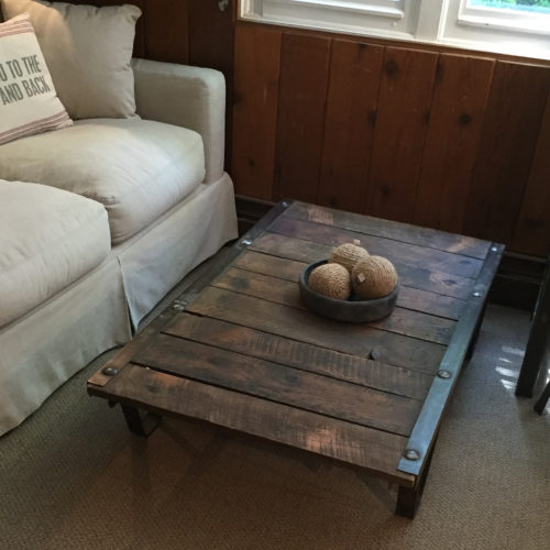 Coffee Table made from Vintage Reclaimed Cart