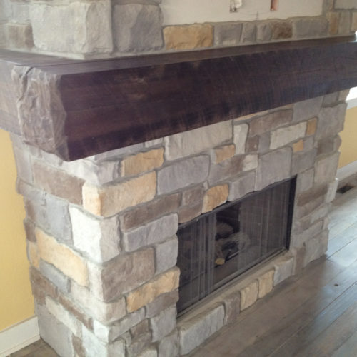 Antique Reclaimed Barn Beam Mantle