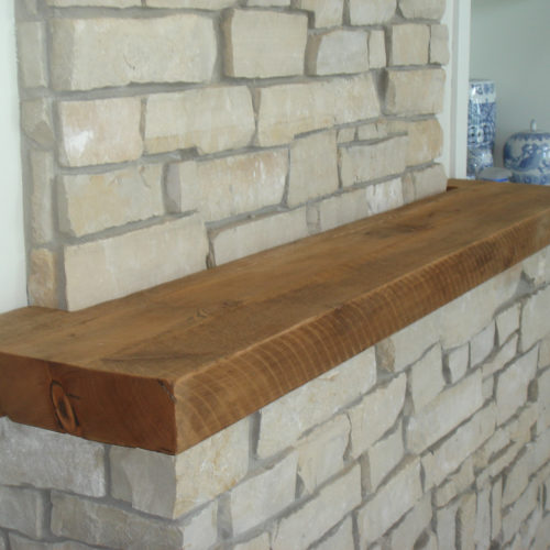 Antique Reclaimed Rough Sawn Pine Mantle