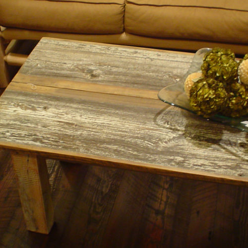 Coffee Table in Reclaimed Barn Wood