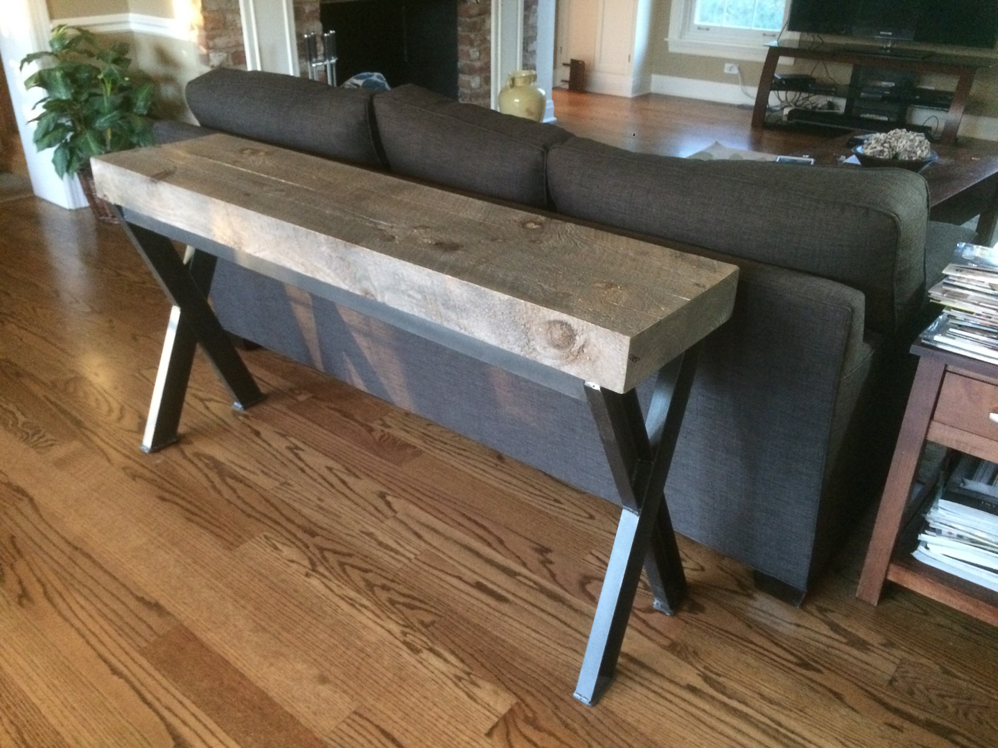 Astonishing Console Sofa Tables Hearthwoods Caraccident5 Cool Chair Designs And Ideas Caraccident5Info