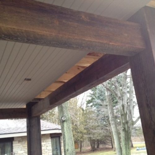 Beams in Antique Reclaimed Pine