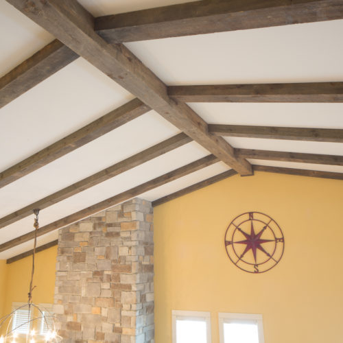 Beams in Antique Reclaimed Weathered White Pine