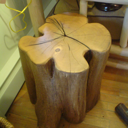 Black Locust Stump Side Table