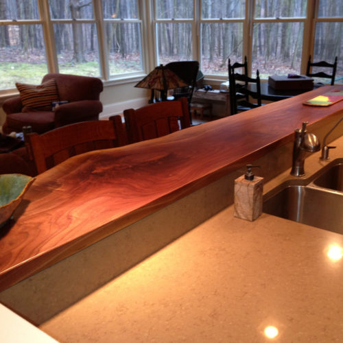 Natural Edge Walnut Counter
