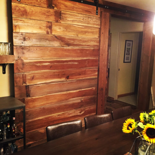 Reclaimed Antique Pine Sliding Door