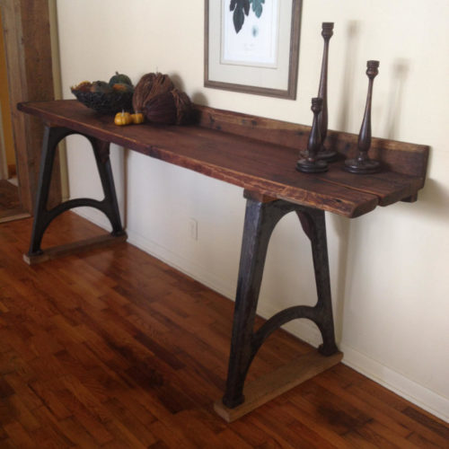 Buffet with Reclaimed Wood Planks with Vintage Industrial Base