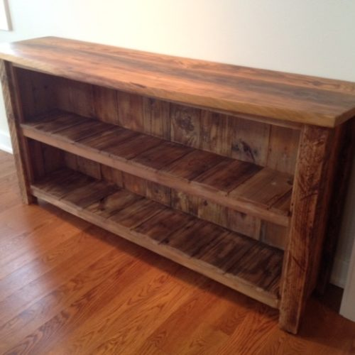 Buffet Shelving Unit in Elm with Stain