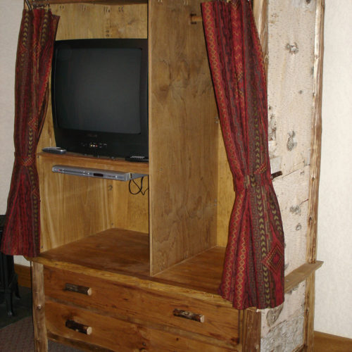 Cabinet with Birch Veneer and Twig Trim