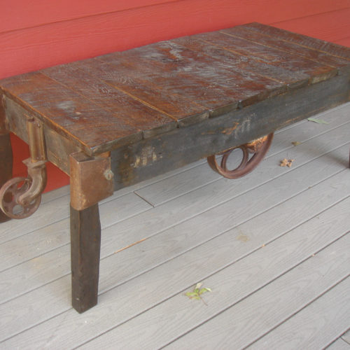Coffee Table made from Antique Reclaimed Cart