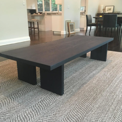 Coffee Table in Oak with Shou Sugi Ban finish