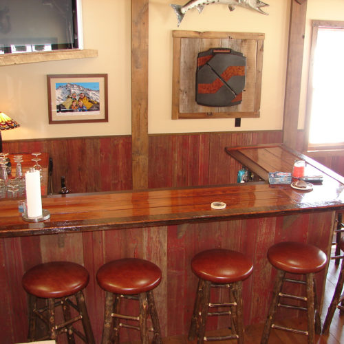 Barn Wood Bar Counter with Heavy Commercial Finish