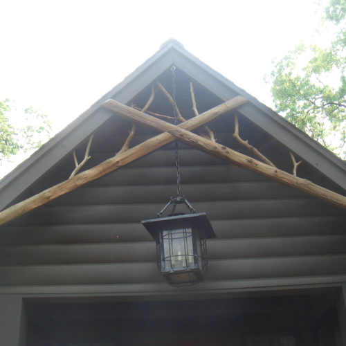 Decorative Posts and Twig Accents in Peeled Cedar
