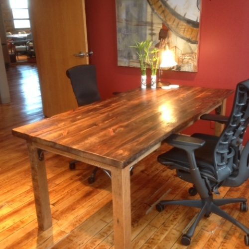 Desk in Reclaimed Antique Heart Pine