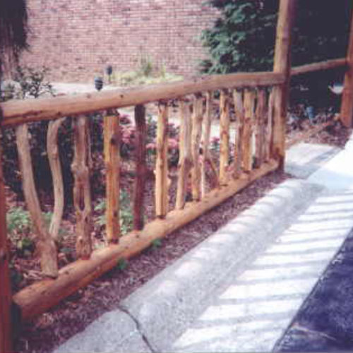Exterior Garden Railings in Red Cedar