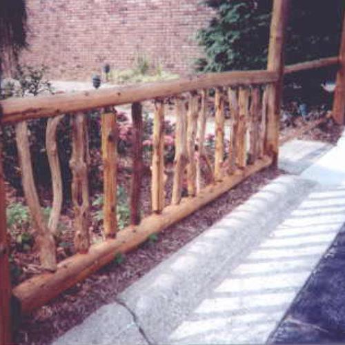Exterior Garden Railings in Red Cedar