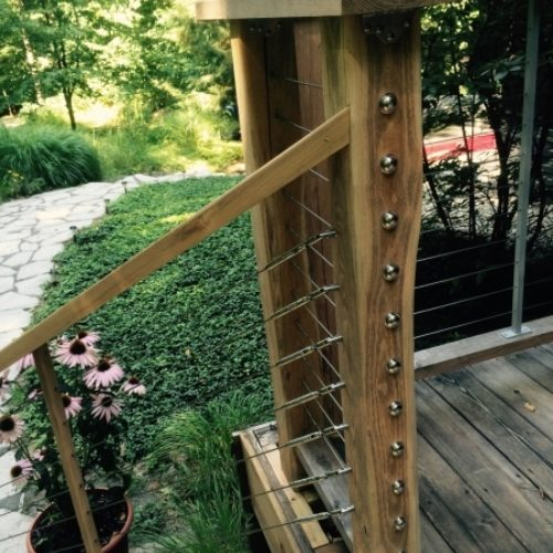 Exterior Railing Posts in Black Locust