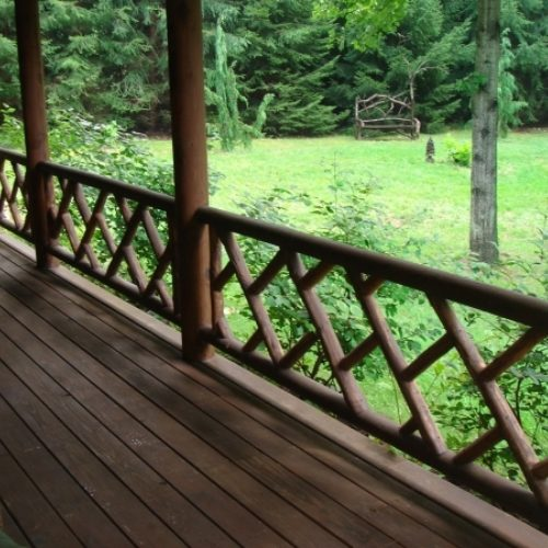 Exterior Railings in Cedar