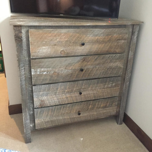 Reclaimed Oak Four Drawer Dresser