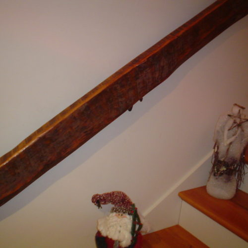 Handrail in Reclaimed Rough Sawn Oak