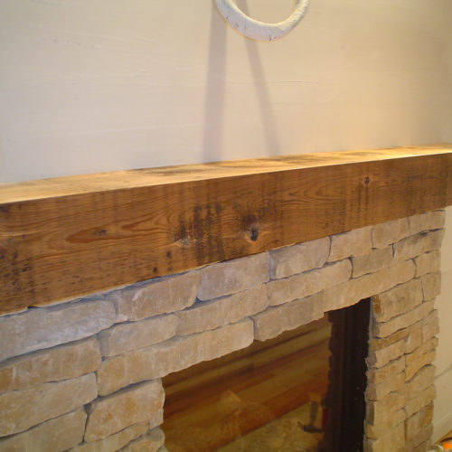 Reclaimed Antique White Pine Mantle