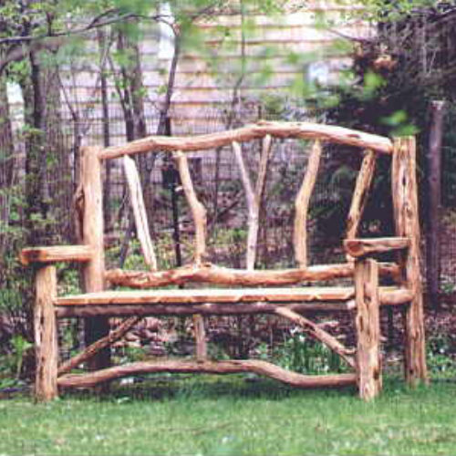 Outdoor Bench in Ancient Black Locust