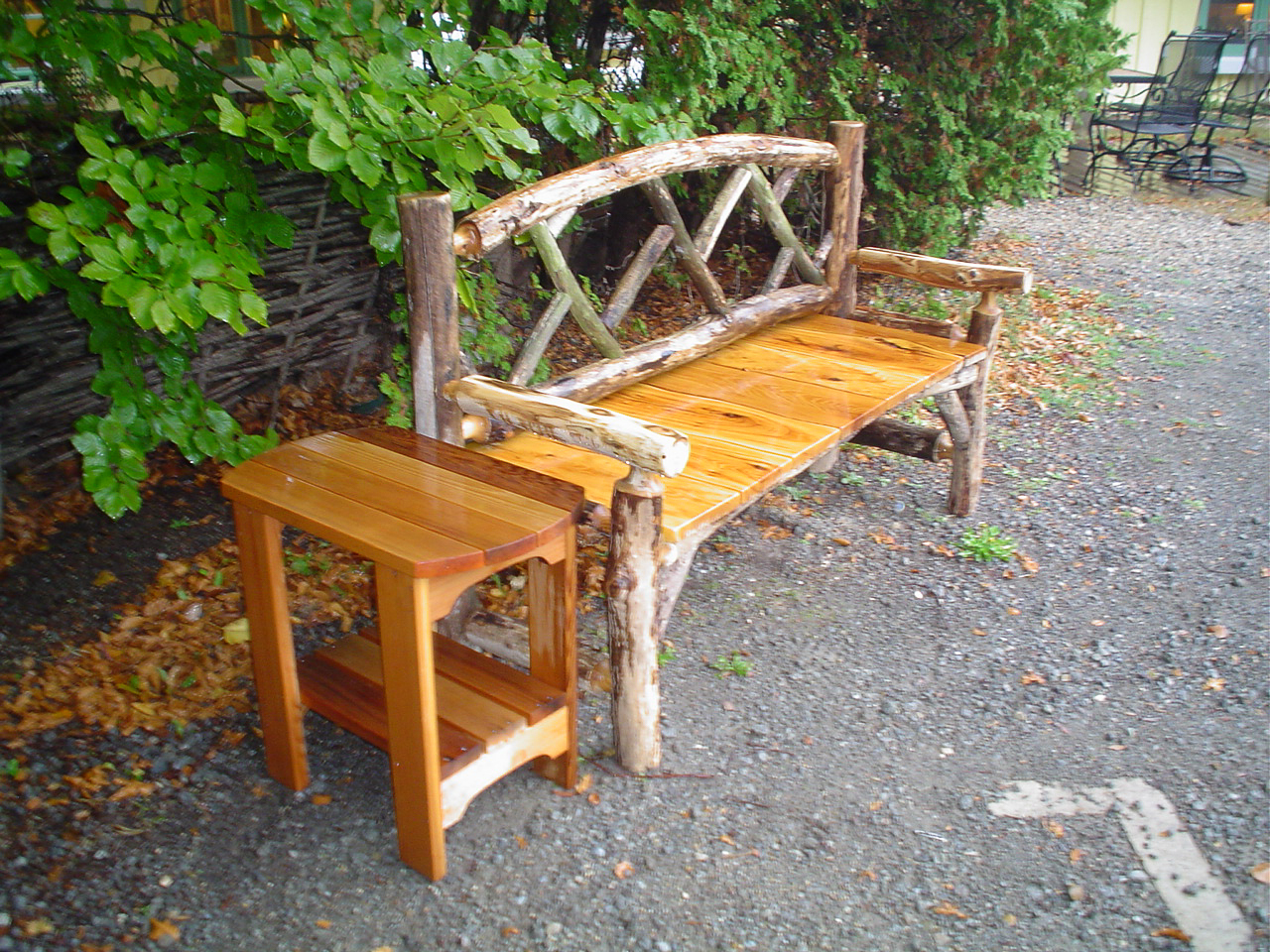 Outdoor Chippendale Bench In Osage Orange