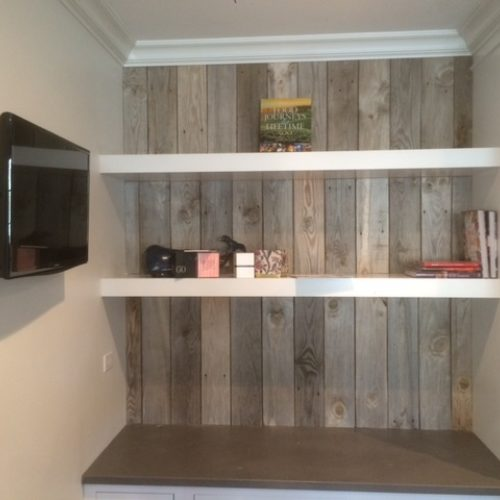 Paneling in Weathered Gray Barn Wood Siding