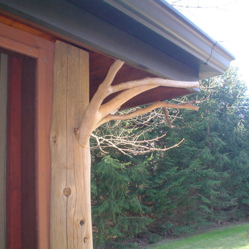 Peeled Cedar Post and Twig Accent