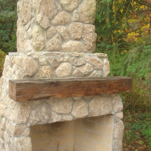 Reclaimed Antique Hand Hewn Barn Beam Mantle