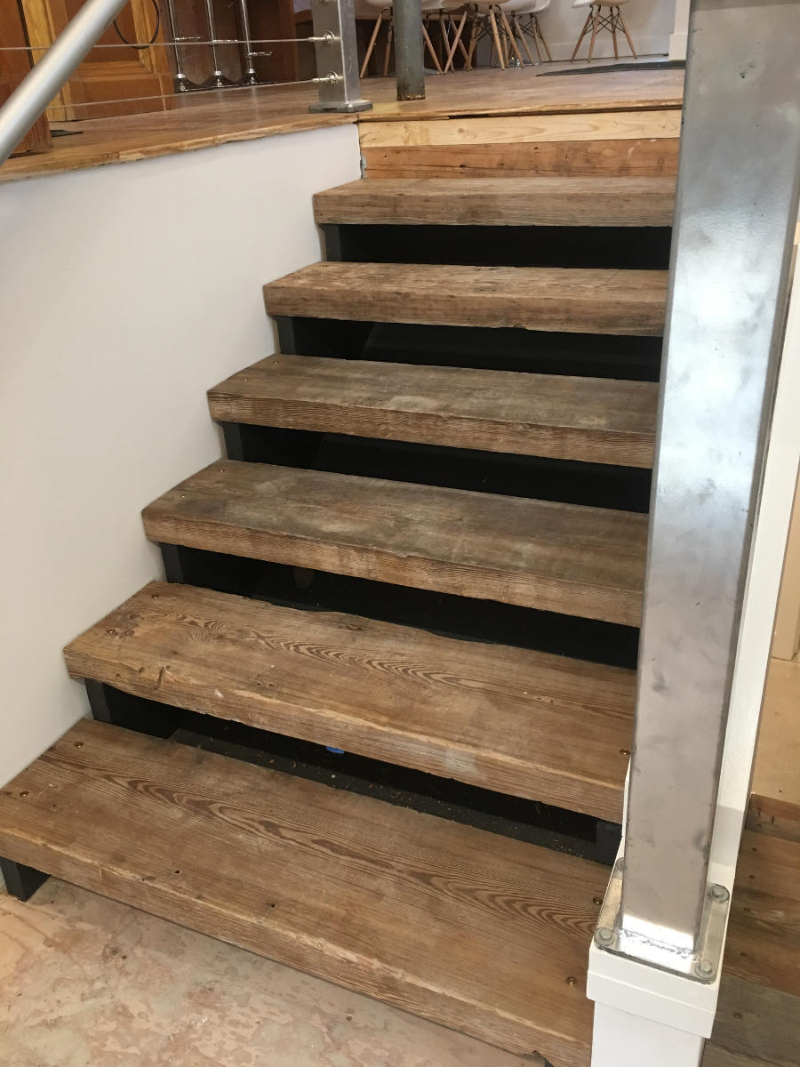 Reclaimed Antique Heart Pine Stair Treads