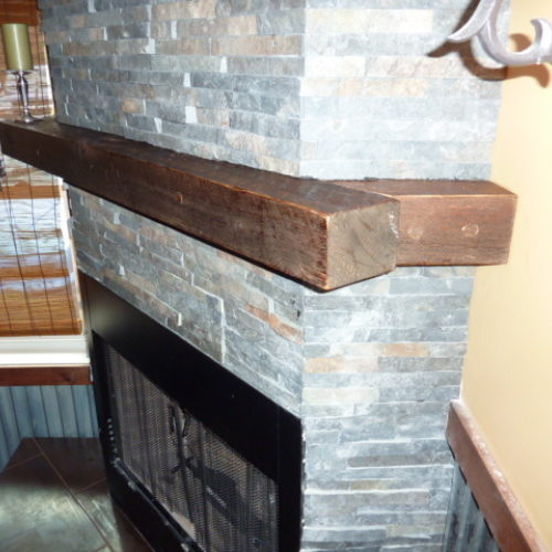 Reclaimed Antique Pine Mantle