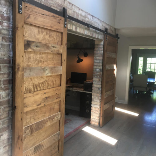 Reclaimed Antique Pine Sliding Doors