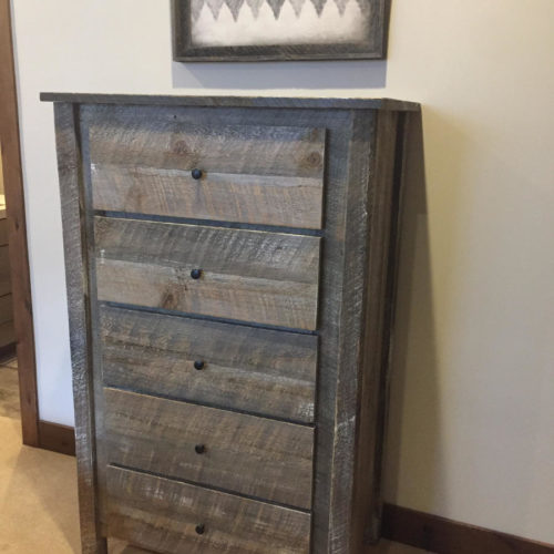 Reclaimed Oak Tall Dresser