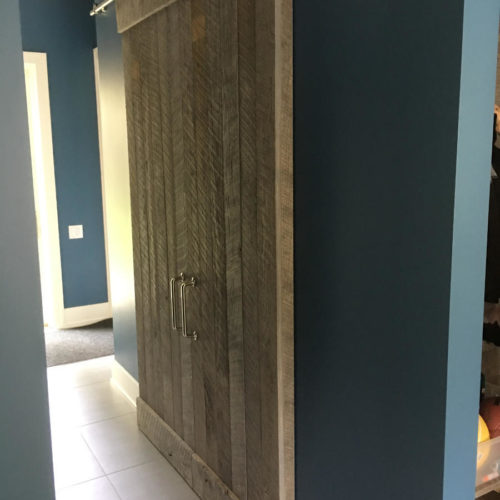 Reclaimed Weathered White Pine Sliding Door