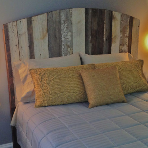 Reclaimed White Barn Wood Headboard