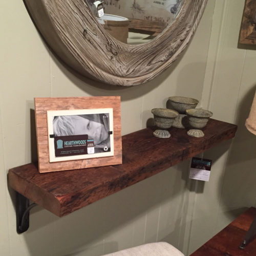 Reclaimed Wood Shelf with Steel Brackets