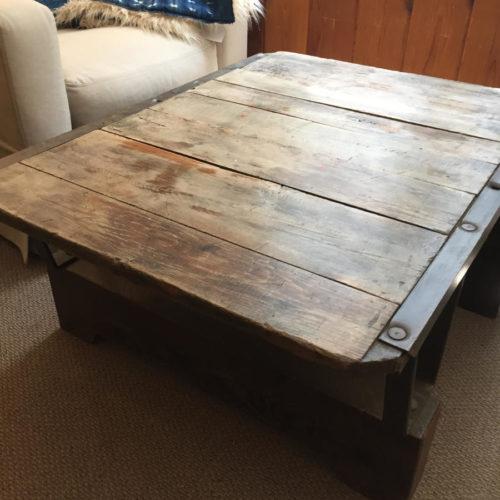 Refurbished Vintage Cart Coffee Table