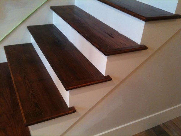 Stair Treads In Antique Reclaimed Distressed Pine