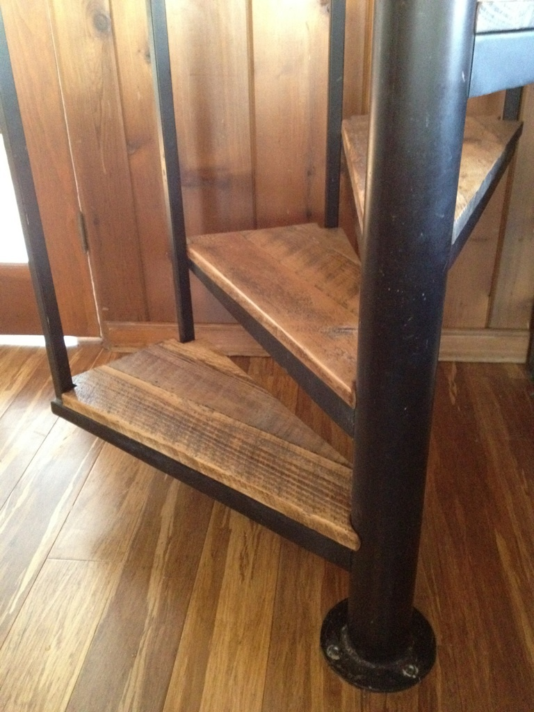 Stair Treads In Antique Reclaimed Heart Pine