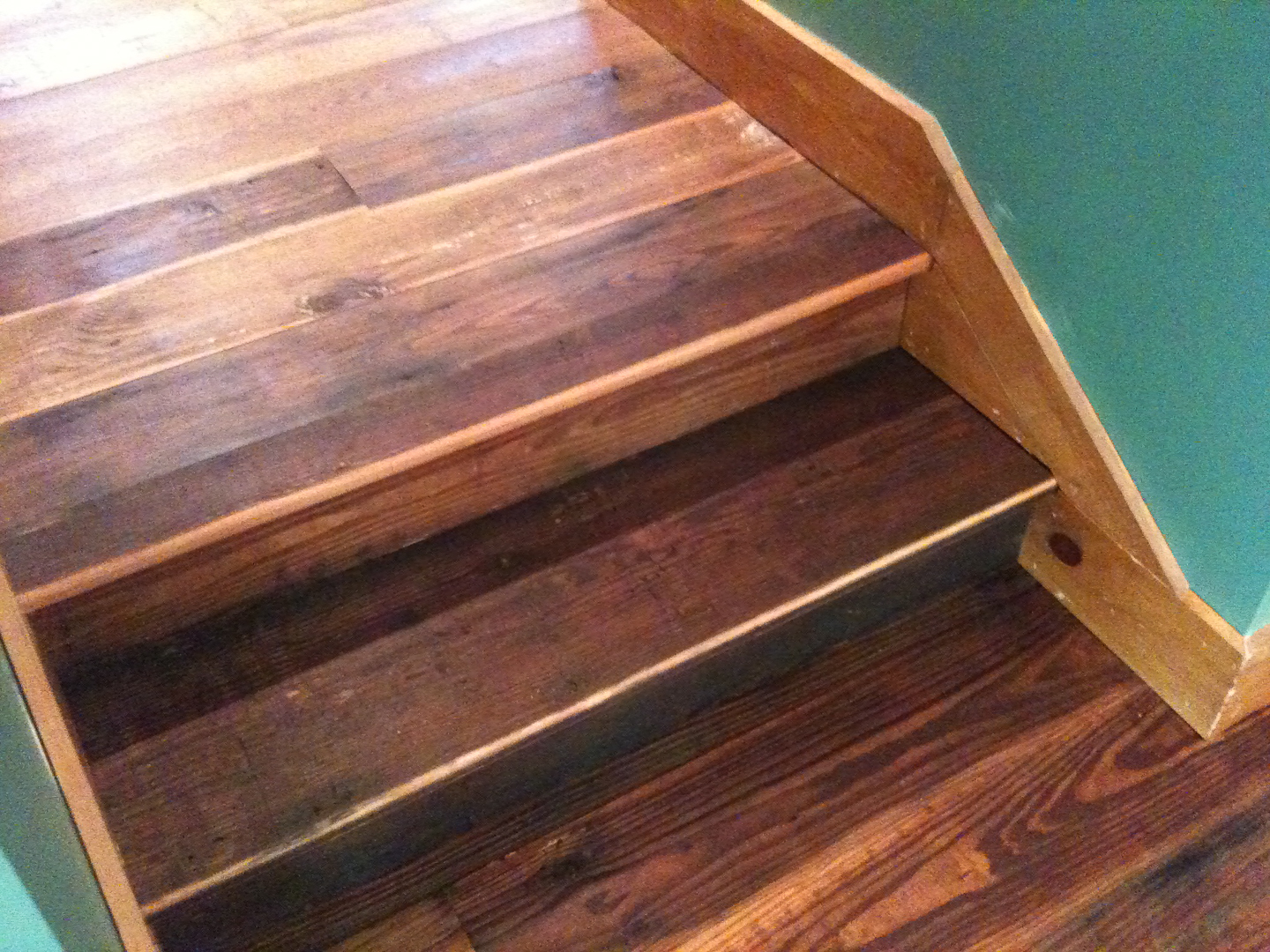 Stair Treads In Antique Reclaimed Pine