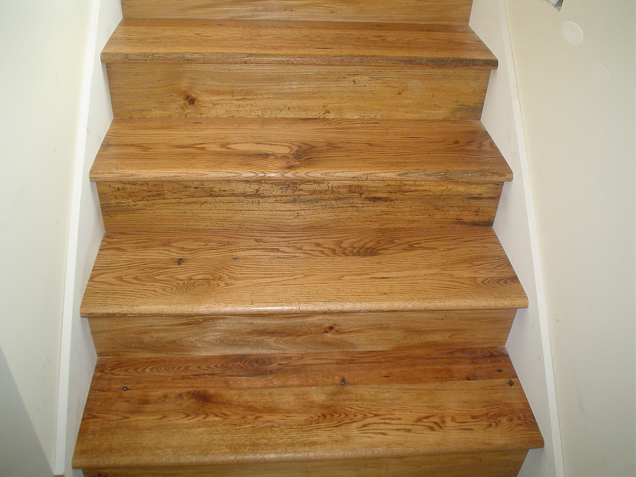 Stair Treads In Mixed Hardwoods